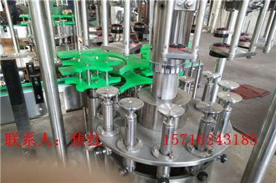 BRGF玻璃瓶饮料三合一全自动灌装机械