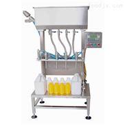 全自动直线式液体灌装机-星火食用油灌装机-洗发水灌装机