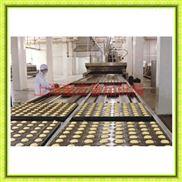 大型蛋糕生产设备/带喷油蛋糕机/蛋糕成型机/半自动蛋黄派生产线