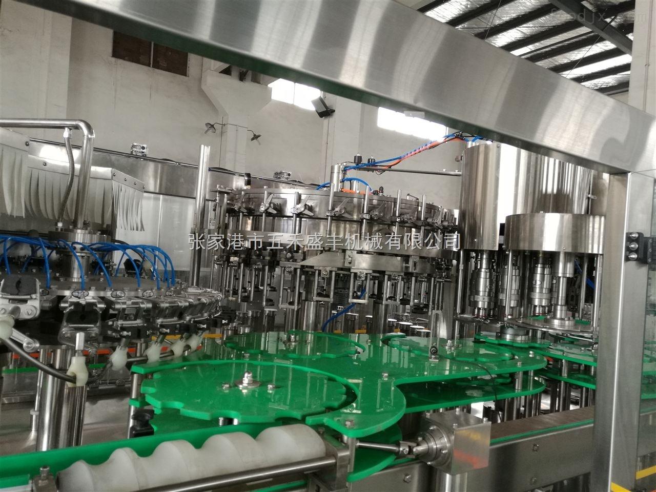 PET玻璃瓶共用双封口等压灌装生产线