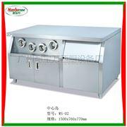 WS-02中心島分杯器/陳列保溫柜/西式快餐設備/漢堡機/薯條展示柜