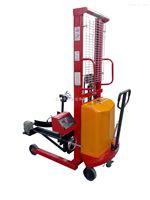 300kg半电动油桶倒料车电子秤