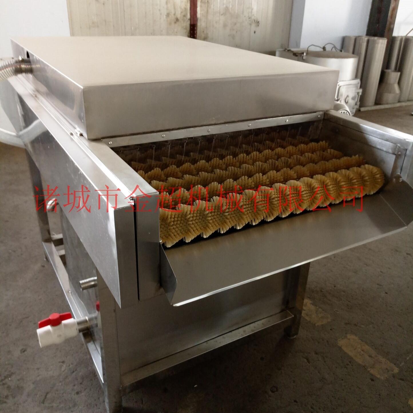 黄桃毛辊喷淋清洗机