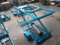 HT-A004A-2家具厂用气动升降工作台 气动带旋转升降平台 沙发扪皮工作台