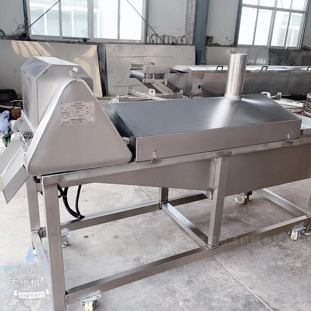天津面皮油炸机 豆腐串油炸设备油温可控