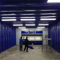 环保自动伸缩喷漆房,伸缩房生产厂家
