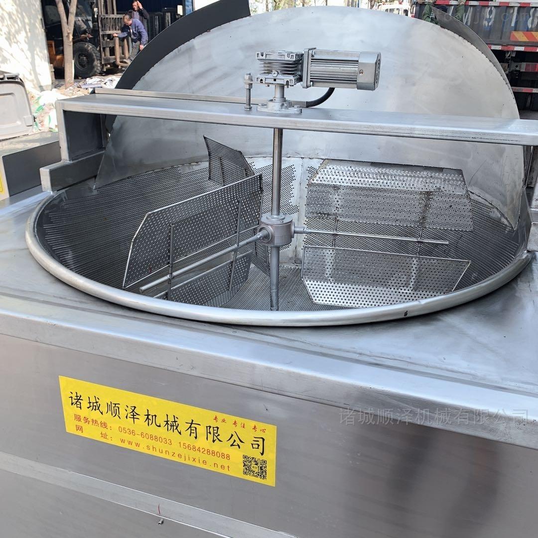全自动花生米油炸机 豆干油炸设备